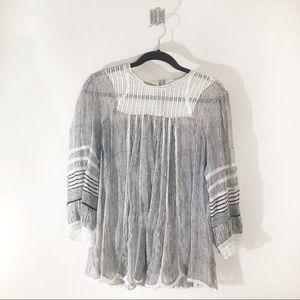 Anthropologie Tops - Anthropologie Floreat B&W Reina Blouse Size XL